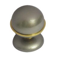 Monarely Cabinet Knob - Silver Gold Finish - 32mm