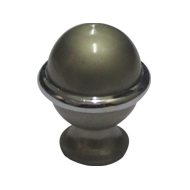 UNO Cabinet Knob - Silver with Chrome Plated Finish