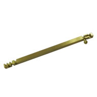 Square Tower Bolt - 12 Inch - Gold Finish