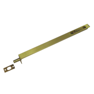 Flush Tower Bolt - 24 Inch - Gold Finis