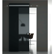 Sliding Door System with cover profile - Set for 1 Slidin