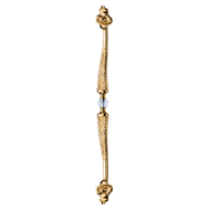 QUEEN Crystal Door Pull Handle - 723mm - Gold Plated Finish