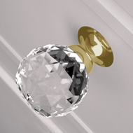 Pull Crystal Cabinet Knob - 25mm - Clea