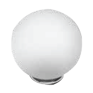 Murano Glass Cabinet Knob - 44mm - Matt White/Chrome Finish - SFERA P907