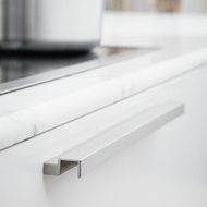 FLOW Cabinet Handle - 50mm - Inox Look Finish