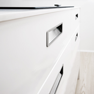 MOVE Cabinet Flush Handle - Inox Look - 160mm