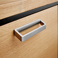 OBLIQUE Cabinet Handle - 160mm - Bright