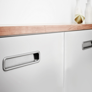 HANDS-On Cabinet Flush Handle - Inox Look - 192mm