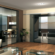 1 Sliding panel Set Evolution for 8/10 mm glass - Aluminium Anodized - 120 Kg