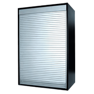 Rolling Shutter - H700mm x W450mm - Satin Natural Aluminium Assemble Finish