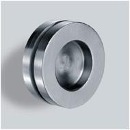 Sliding door handle <br> Ø 65 - Anodized aluminium Finish