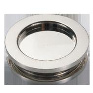 Round Sliding door handle <br> Ø 60 - Anodized aluminium Finish