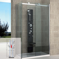 ACCESSORY SET FOR NICHE SHOWER - System for 2 sliding pan