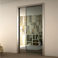 Aluminium Frame for Flush Pocket Sliding Doors - Anodized Aluminium Finish