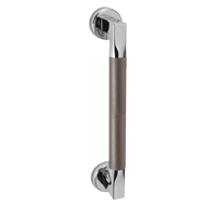 TUBE Door Pull Handle - Graphite & Satin Nickel Finish - CC300mm
