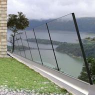 Profile for Glass Railings - Inclined anti-vertigo railing system - Glass 8+8mm