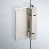 Side Hinge Libra with fixing plate - Satin Chrome Finish