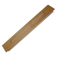 Sliding Flush Handle - 12 Inch - Teak Wood