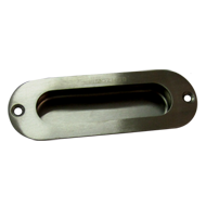 Sliding Flush Handle - Round - Stainles
