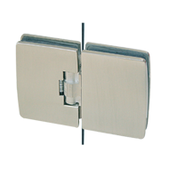 Automatic Hinge Glass/Glass in forged brass with 180° opening - Satin Chrome Finish