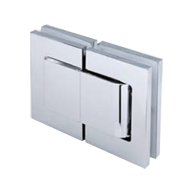 HYDRAULIC HINGE GLASS TO GLASS - 180° with adjustment of the closing speed stop at 0