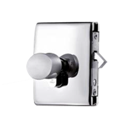 MINIMA LOCK AND CYLINDER C-07 included with hook for glass sliding door - Satin Chro