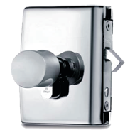 MINIMA LOCK AND CYLINDER C-07 with lock for glass sliding door with rebate for rebat
