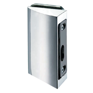 STRIKE BOX for locks with Hook for sliding doors along the wall - Satin Chrome Finis