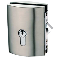 MINIMA BOTTE LOCK AND CYLINDER C-08 included with hook for glass sliding door - Sati