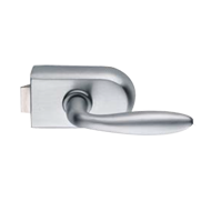 Compact Lock round - Satin Chrome Finish