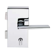 VERTICAL LOCK with cylinder hole - Left - Satin Chrome Finish