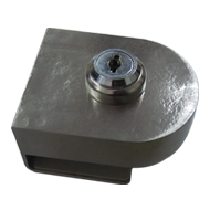 Glass Door lock - Stainless Steel Finis