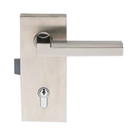 VERTICAL LOCK - Left - with cylinder hole - Satin Chrome