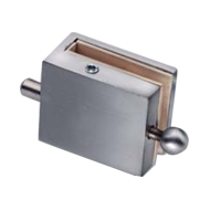 Locking Bolt Down for double door glass 8 mm - Satin Chrome Finish