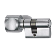 W.C. Cylinder - with knob for lock side - Satin Chrome Finish