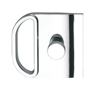 Lock with flush pull for disappearing doors - one side key one side Knob - Satin Nic