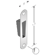 STRIKING PLATE FOR B-TWO LOCK