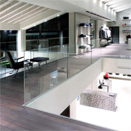 Profiles for glass railings for recessed in the floor - L