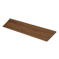 CHISELLE - Wooden Cabinet Handle - 128mm - Walnut clear lacquered Finish