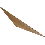 KITE 64 - Wooden Cabinet Handle - 64mm - Walnut clear lacquered Finish