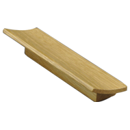 TOFU 96 - Wooden Cabinet Handle - 96mm - Walnut clear lacquered Finish