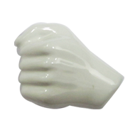 Body Line Hand Cabinet Knob - White color