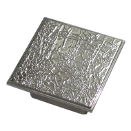 Square Cabinet Knob - Chrome Plated Finish