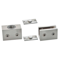 Floor Spring - Free Hinge without return spring - Polished Chrome Finish - Load Capa
