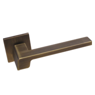 STREAM Mortise Handle on Rose - Patine