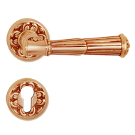 Volterra Door Lever Handle on rose - Ol