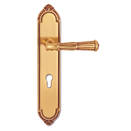 Volterra Door Lever Handle on plate - O