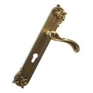 Venezia Door Lever Handle on plate - Ol