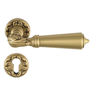 BAKU Door Lever Handle on rose - Gold F