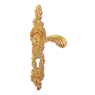 LISBONA Door Lever Handle on plate - Ol